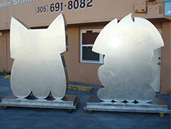 Polished Steel Sculptures
