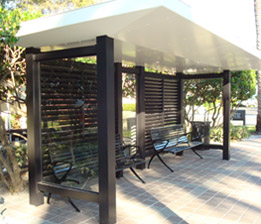 Steel Fabricated Bus Shelter